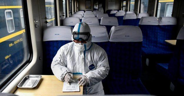 In Planes and Trains, Mini-Mops and Fog Machines Battle Coronavirus