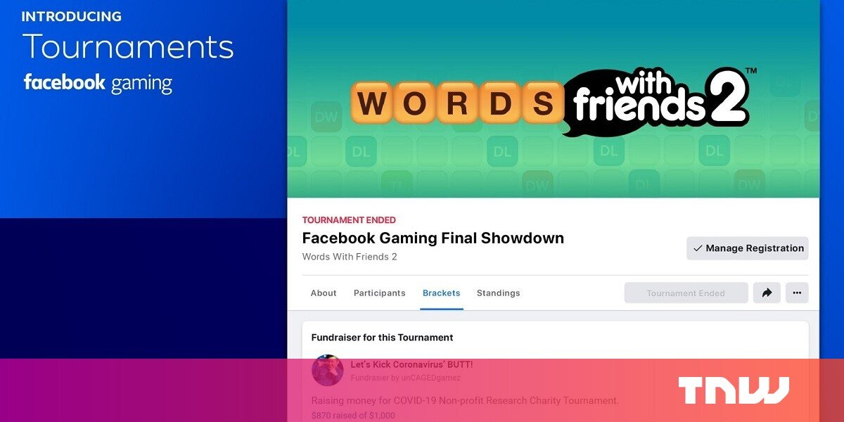 Facebook launches Tournaments as part of social distancing campaign