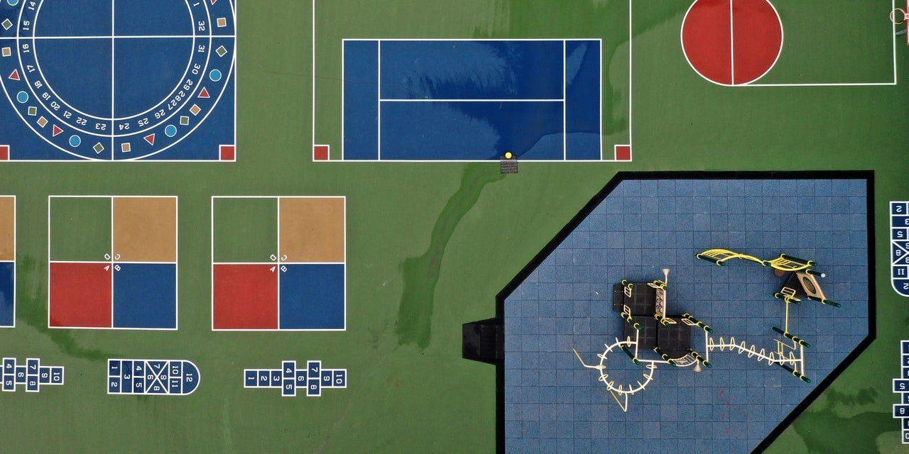 The Eerie Stillness of Empty Schoolyards