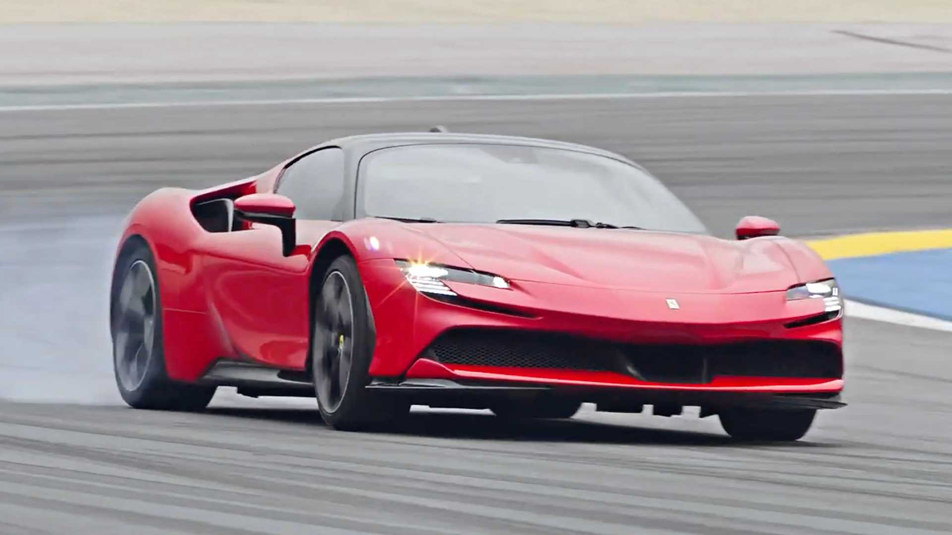 See Ferrari SF90 Stradale Warp Spacetime In Bonkers Acceleration Run